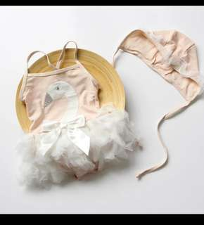 baby swimming suit (little swans)