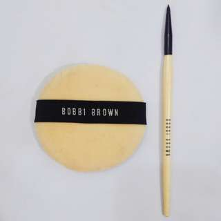 Bobbi Brown Powder Puff and Ultra Precise Eyeliner Brush