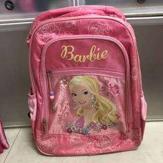 Brand new princess backpack with Barbie doll and pencil case