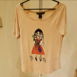 marc by marc jacob nude print tee