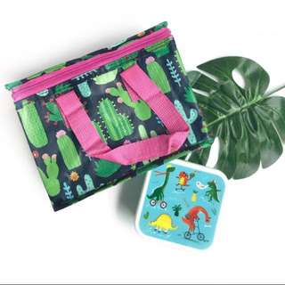 Skating Dino Lunch Box - baby boy / baby girl / mummies