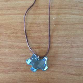 SWAROVSKI CRYSTAL BLUE DOG MINI PENDANT