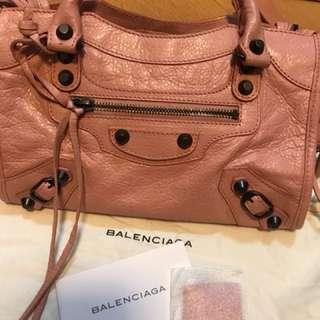 巴黎世家mini粉紅色手袋