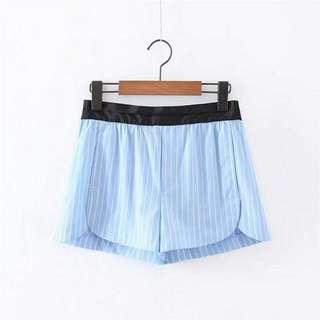 20WST17J5 Blue Stripe Casual Shorts (size S,M,L)