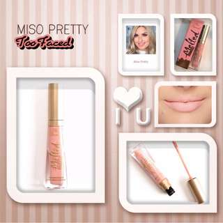 Too Faced Melted Matte Liquified Matte Lipstick (Miso Pretty)