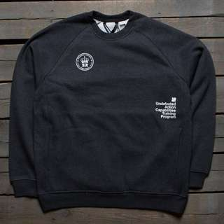 100%NEW Undefeated X Shoyoroll Syr Technical Crew Size M - Black heather
