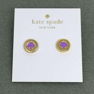 Kate Spade New York Sample Earrings 紫色配金色耳環