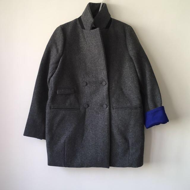 全新。2way立領大衣