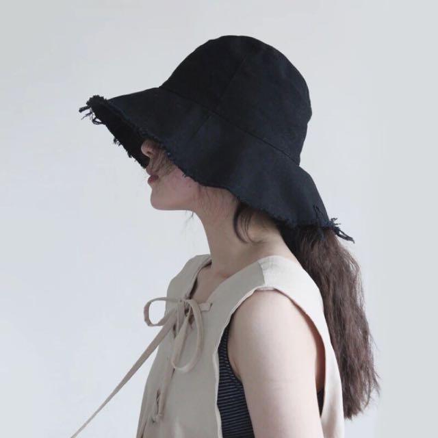 原宿大帽沿鬚邊漁夫帽