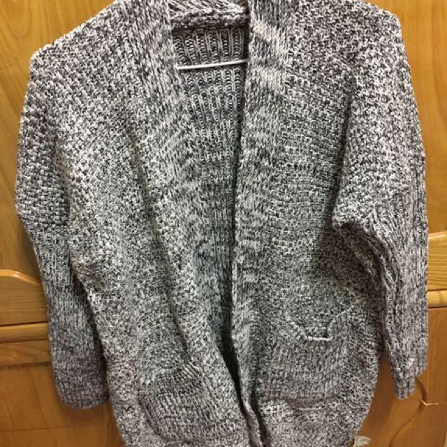 (全新)針織長版外套