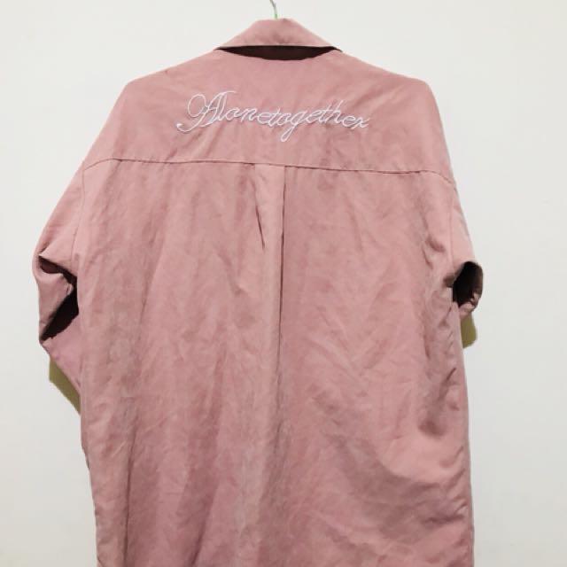 粉色絨布面襯衫外套 #大掃除出清