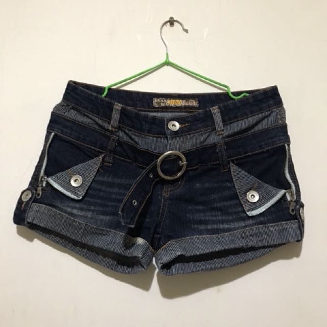 低腰造型牛仔短褲 #大掃除出清