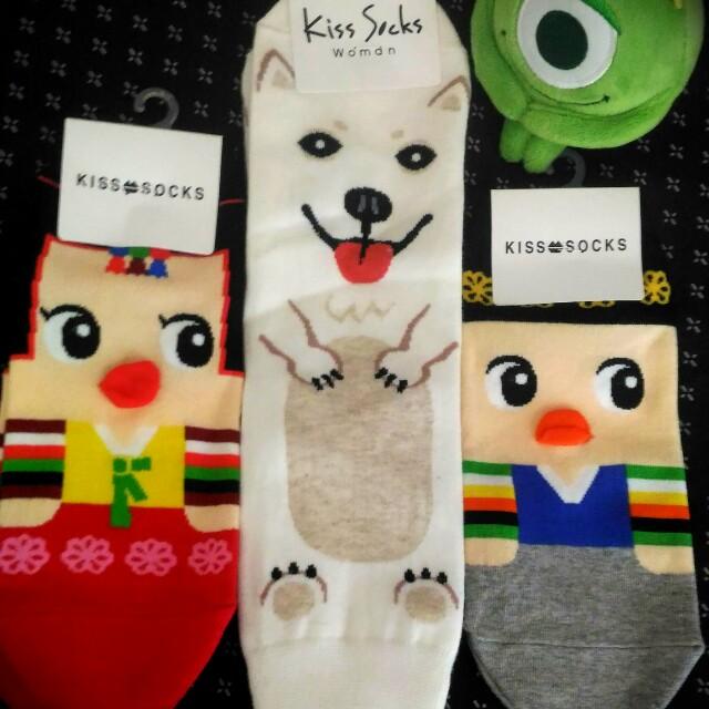 韓國哈士奇犬襪  韓服男女襪