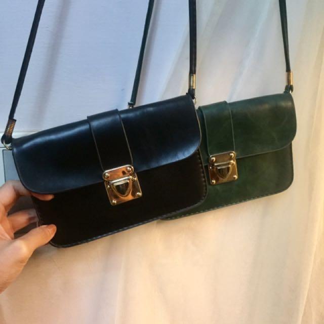 側背小包。 綠色已售出
