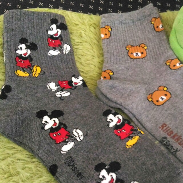 韓國襪子 米奇 拉拉熊短襪