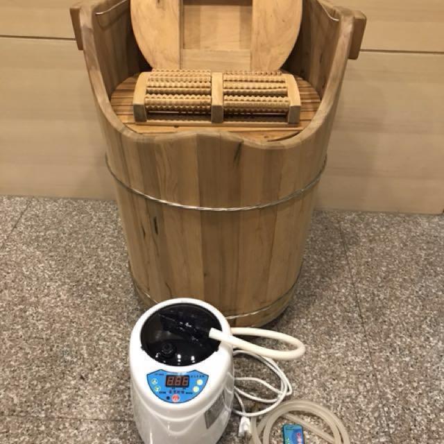 台灣阿桶 蒸腳桶 泡腳桶 檀香木 檜木 檜木桶 可議