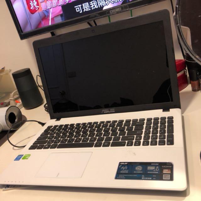 華碩 asus 四核心 x552m 白 筆記型電腦 筆電 15.6吋