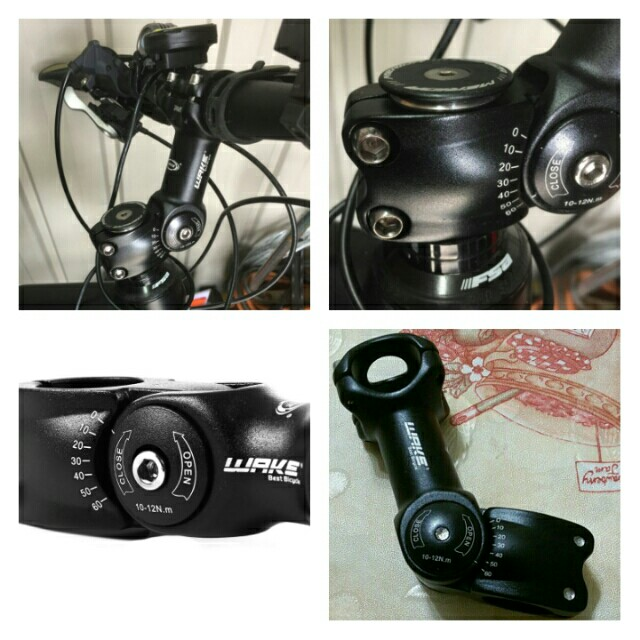WAKE Cycling Bicycle Aluminum Alloy 3D Forged Adjustable Handlebar Stem Riser