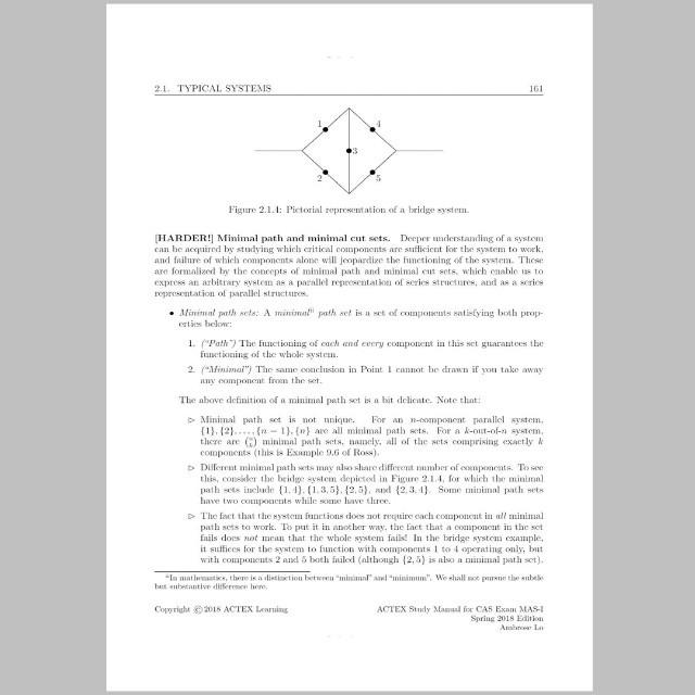 Actuarial CAS exam - ACTEX MAS I Spring 2018 version