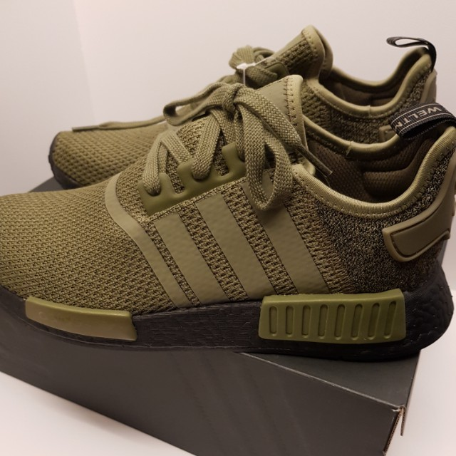 pretty nice da3b2 57382 Adidas NMD R1 Navy Green (UK 9), Men s Fashion, Footwear, Sneakers on  Carousell