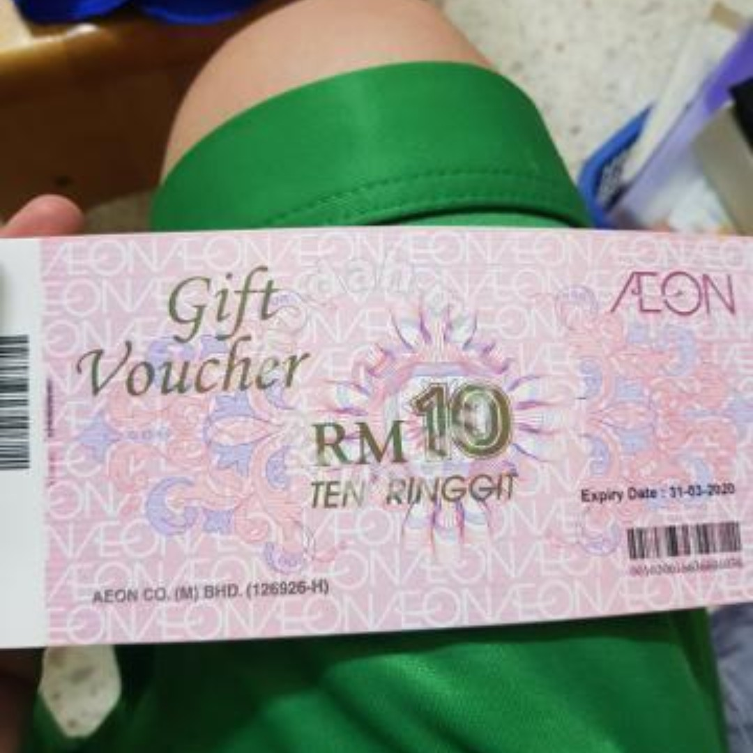 Aeon Voucher 130 Rm120 Tickets Vouchers Gift Cards Aon On Carousell