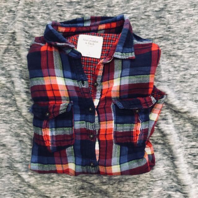 AF Abercrombie fitch 格子襯衫