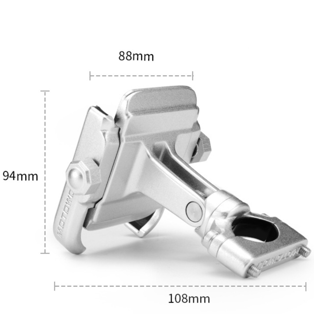 Stainless Metal Handphone Holder for Motorcycle/Bicycle with handlebar