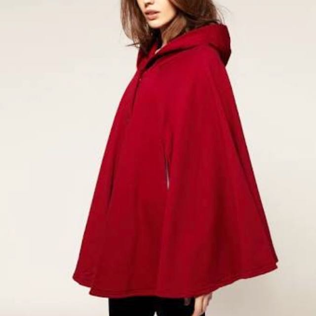 AMERICAN APPAREL Red cape one size