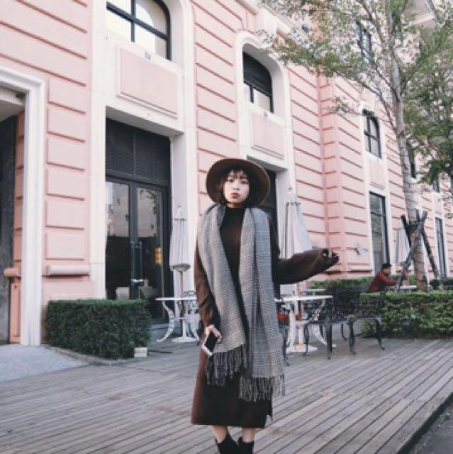 An alley小立領針織洋裝