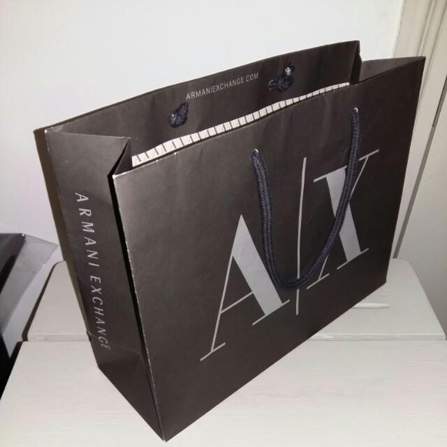 Armani Exchange paper bag 216ca206bee35