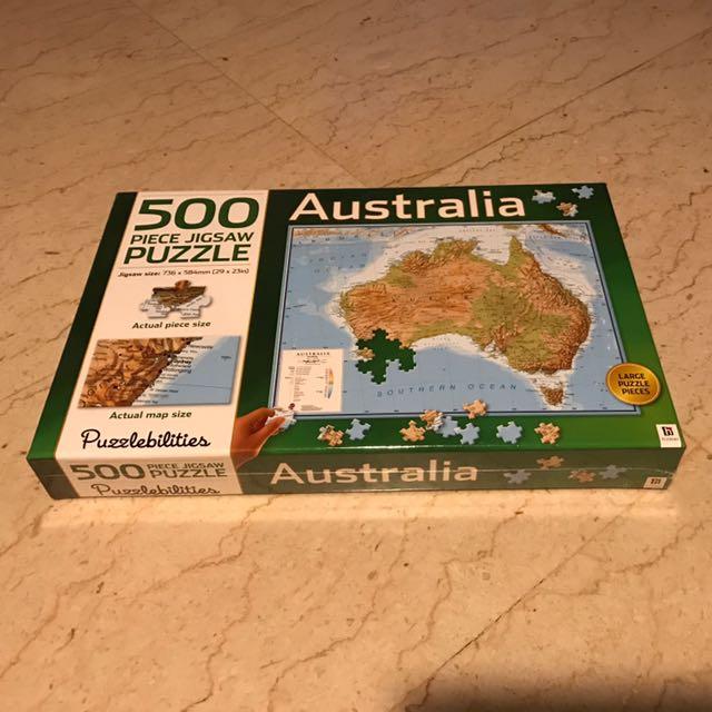 Australia Map Jigsaw.Australia Map Jigsaw Puzzle Toys Games Bricks Figurines On