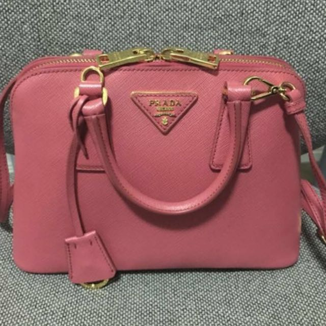 Authentic Prada Saffiano Tote - small