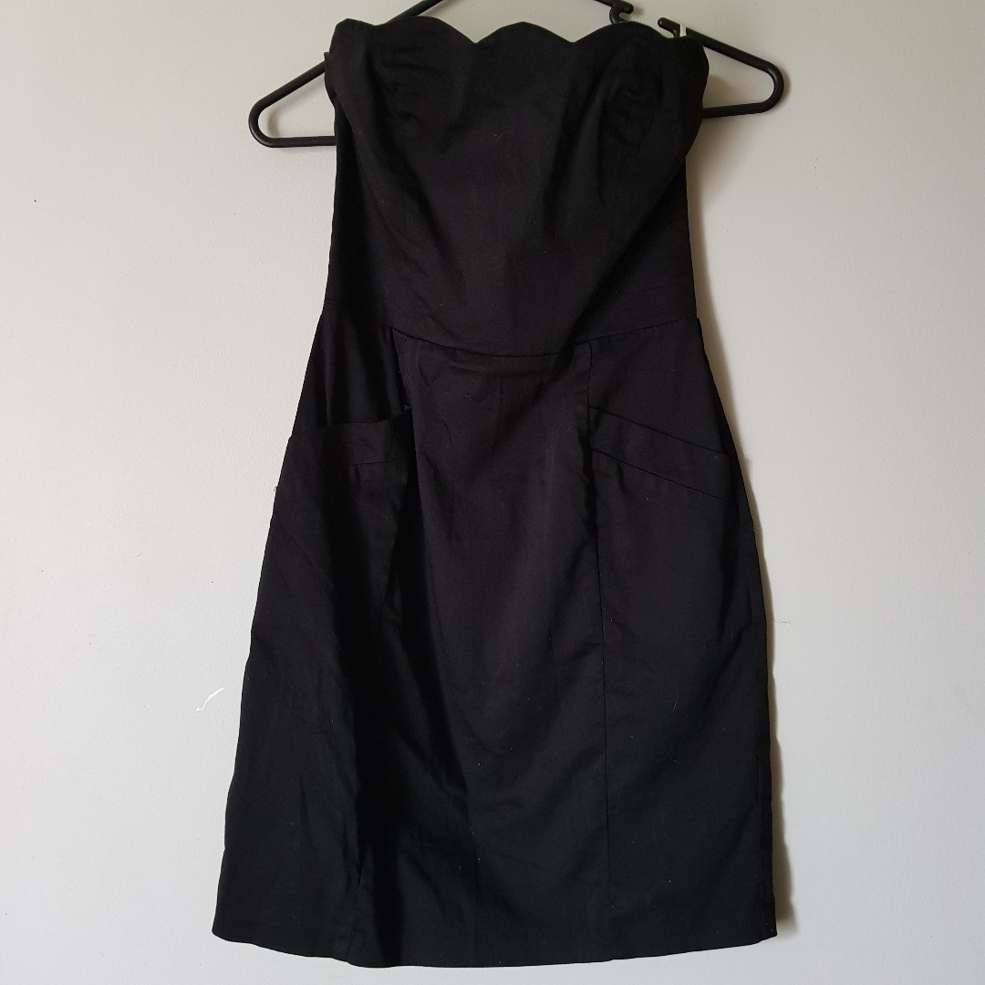 Bardot Black Strappless Dress