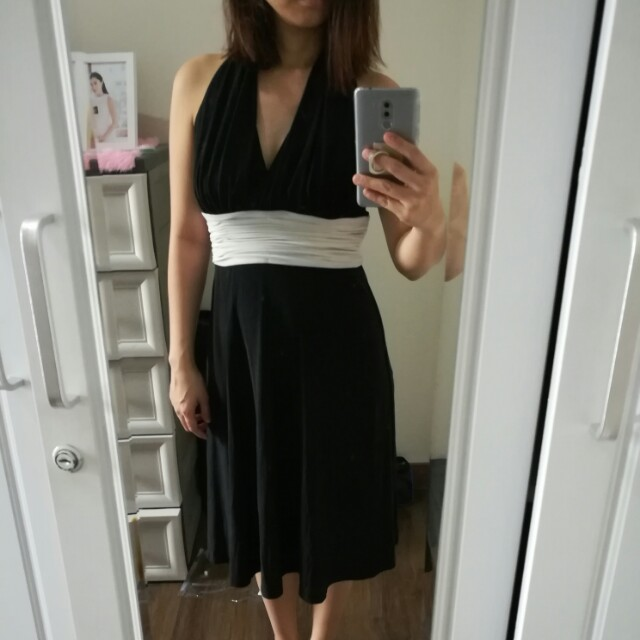 Black and White Party Dress