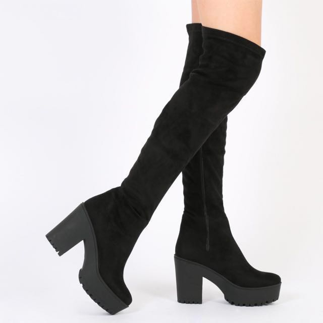 🌷Black Knee High Boots