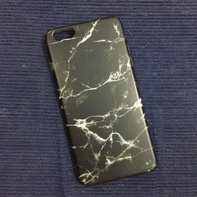 Black Marble iPhone 6 Plus soft case