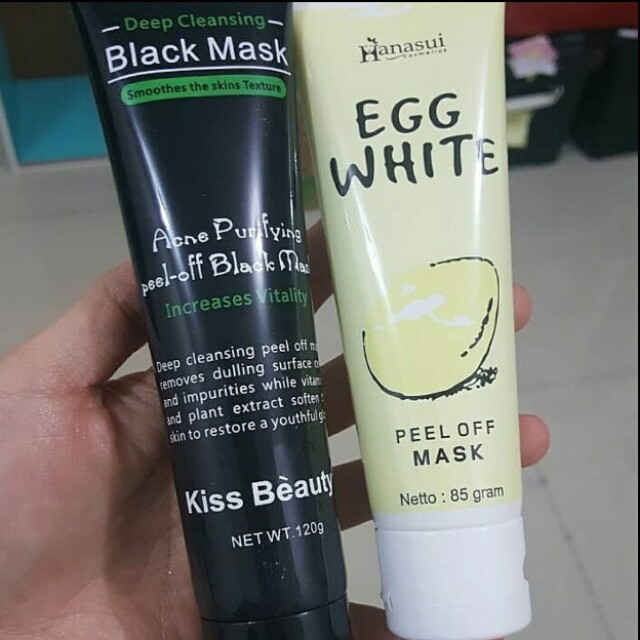 Black Mask and Egg White Mask