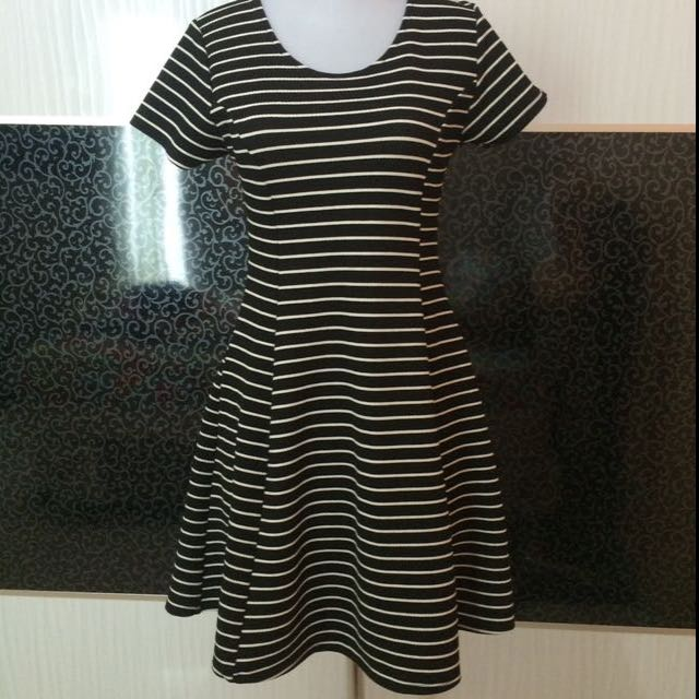 Black Strip Dress