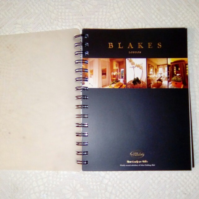 BLAKES London hotel Daily planner 2005
