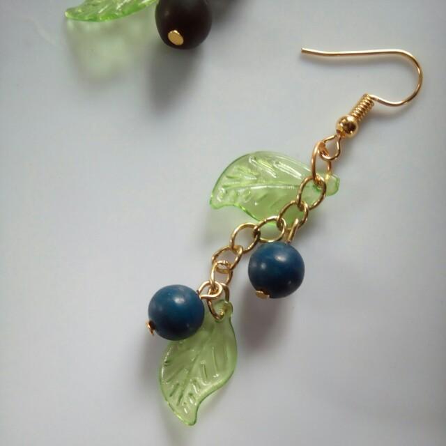 Blueberry Drop Earrings
