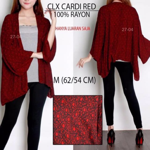 Branded COLORBOX RED CARDIGAN
