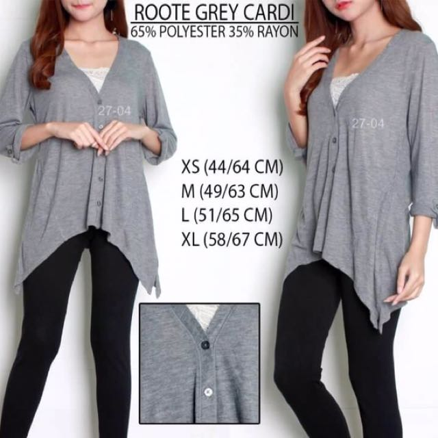 Branded Roote Grey Cardigan