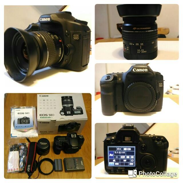 Canon EOS 50D +Lens ef 22-55