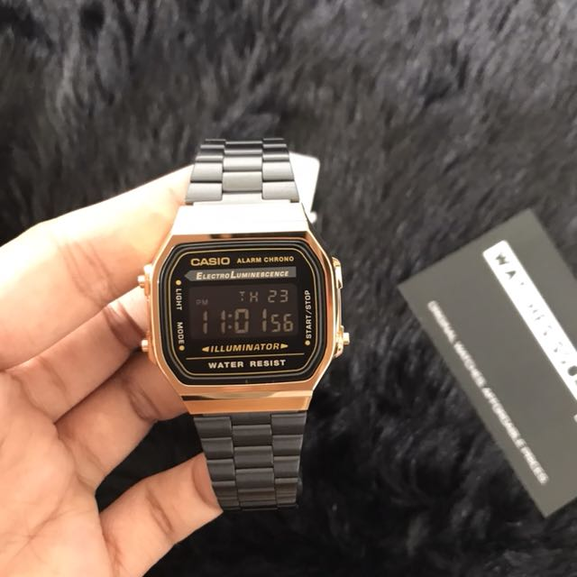 36228e2199b Casio Black Gold A168 Vintage Limited Edition