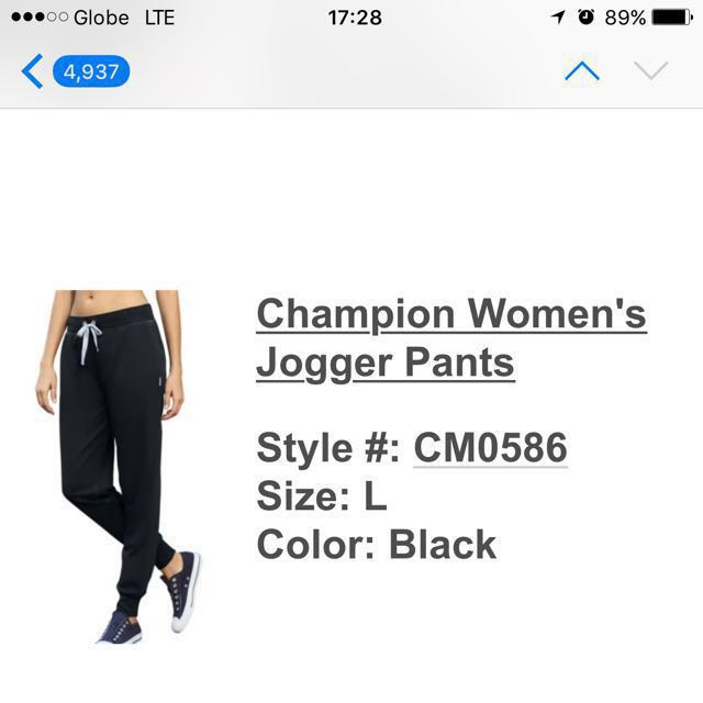 6166c9715dd3 Champion Women s Jogger Pants
