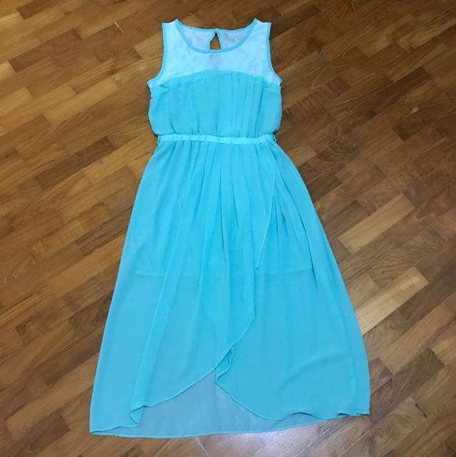 Chiffon Dress 👗- tiffany green color