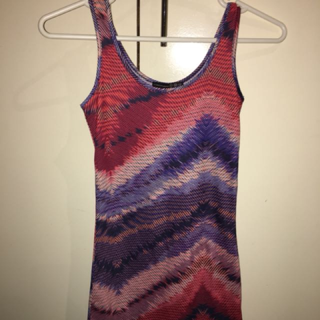 Colourful clubbing party bodycon dress