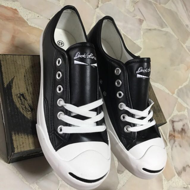b9b1c3dc78a392 Converse Jack Purcell Black Leather Low Cut Shoes