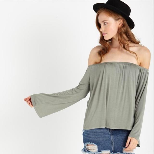 711899dd7dc92 Cotton on white petrova long sleeve off the shoulder top
