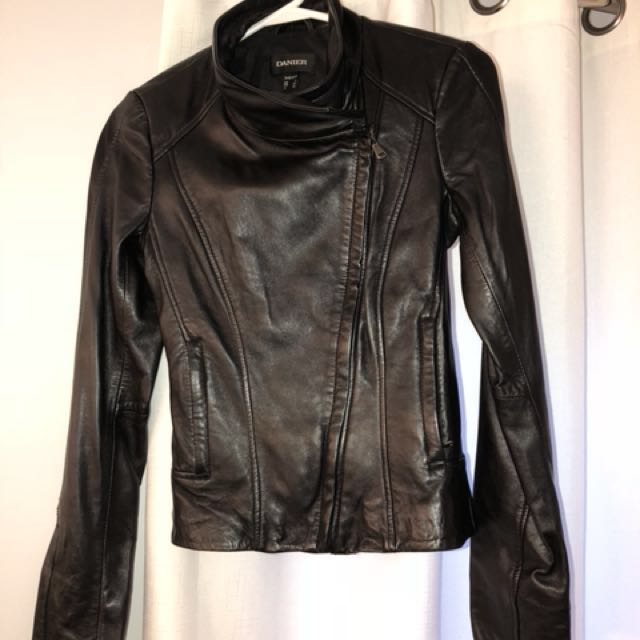 Danier leather jacket 3xs